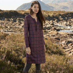 NWT Poetry Checkered Wool Dress Button Down 12